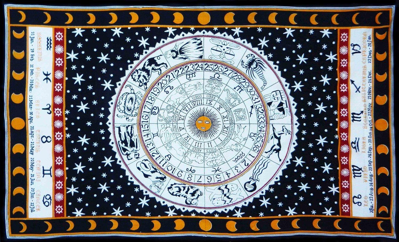 十二星座掛布 - 黑白
