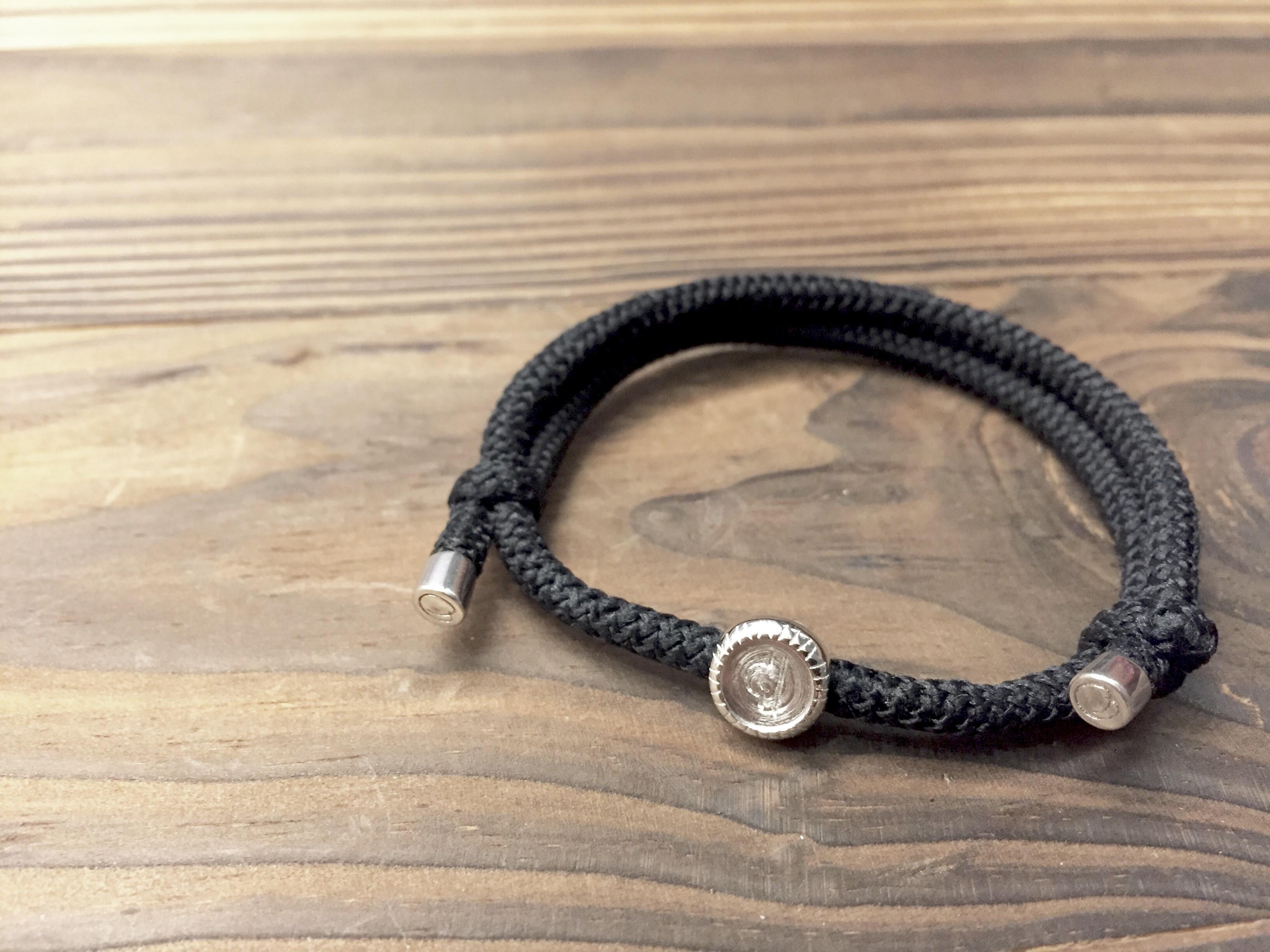 純銀天蠍座扣配彈性手繩環