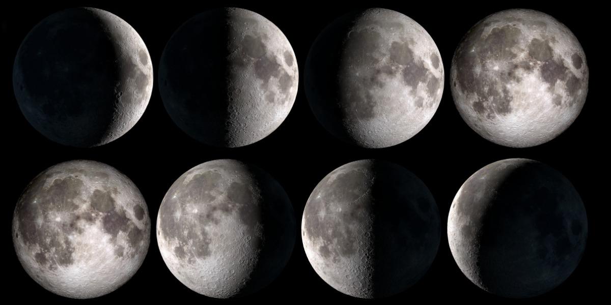【2021年新月。滿月。日食。月食】上半年月相時間表